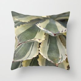 Agave in Yellow & Green Throw Pillow
