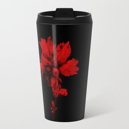 Flower in Black&Red Travel Mug