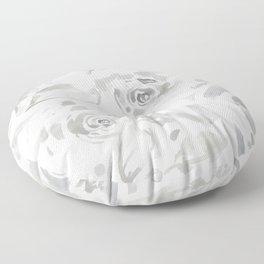 Lillian Gray Floral Floor Pillow
