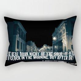 In the Real Dark Night Rectangular Pillow