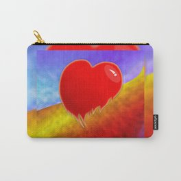 Glossy broken heart graphic Carry-All Pouch
