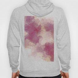 Mauve Dusk Abstract Cloud Design Hoody