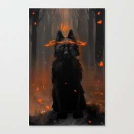 Crowned Wolf Canvas Print