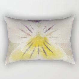 Oh Violet Floral Nature Photograph with Watercolor Painting Effects Graphic Design Rectangular Pillow
