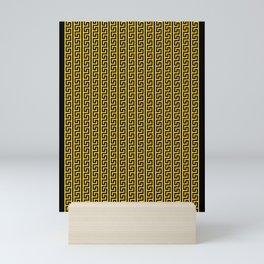 Greek Key Full - Gold and Black Mini Art Print