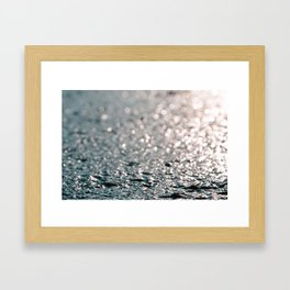 Shiny water Framed Art Print
