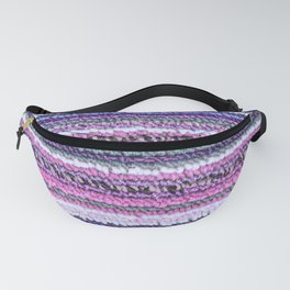 Purple Pink Periwinkle Carpet Texture Fanny Pack