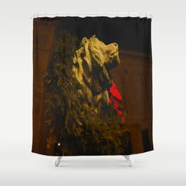 Chicago's Lions in Winter #2 (Chicago Christmas/Holiday Collection) Shower Curtain