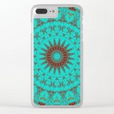 Mandala Fractal in Oxidized Copper 2 Clear iPhone Case