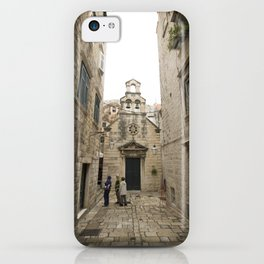 The Quiet Backstreets of Dubrovnik iPhone Case