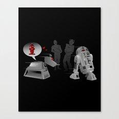 K9 love affair Canvas Print