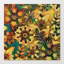 A Floral Dance Canvas Print