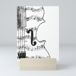Music Notes on String Instrument Mini Art Print