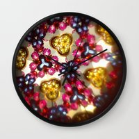 kaleidoscope Wall Clocks featuring Kaleidoscope by ADH Graphic Design