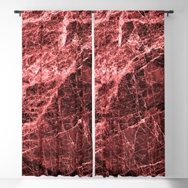 ABSTRACT RED PEAR Blackout Curtain