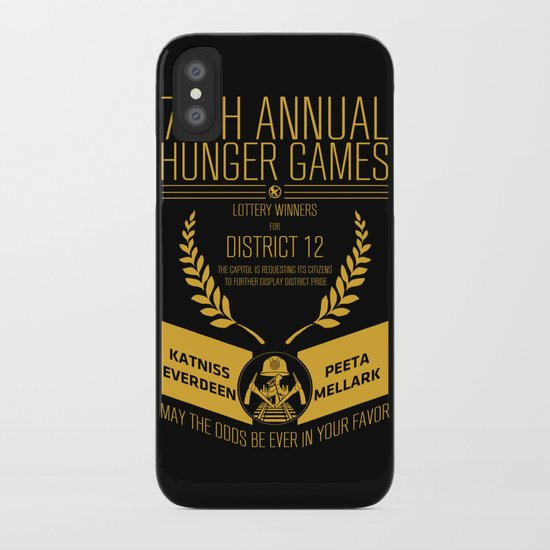 74th annual hunger games poster iPhone Case