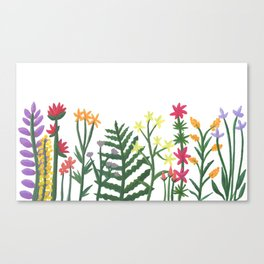 Painted Wildflowers Canvas Print