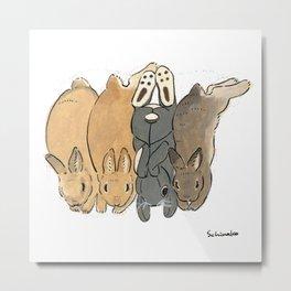 They love IKEA bunny stuffy Metal Print