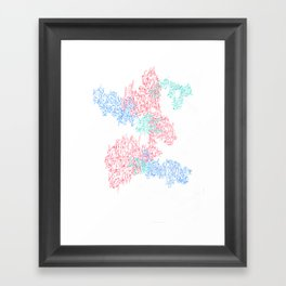schematic splat Framed Art Print
