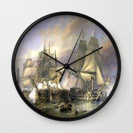 The Battle of Trafalgar Wall Clock