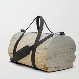 Footprints on sand Duffle Bag