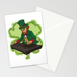 DJ Leprechaun Live On Stage - Irish Electro Music Stationery Cards
