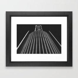 Culver Spire - Kirk Douglas Theatre Neon Sign - Culver City, CA Framed Art Print