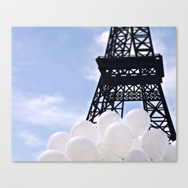 Eiffel Tower With Balloons Canvas Print