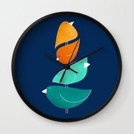 Bird Stack III Wall Clock