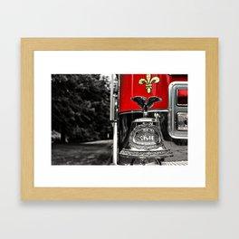 Fire Truck Bell Framed Art Print