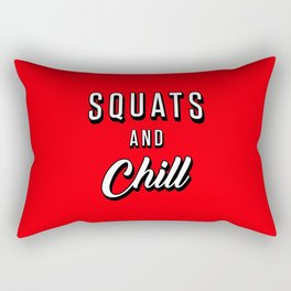 Squats And Chill Rectangular Pillow