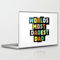 dad Laptop & iPad Skins featuring Dad by mailboxdisco