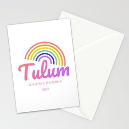 Tulum Rainbow Positive Energy Heaven in the Mexico - Colorful Geography Stationery Cards