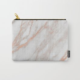 Marble Rose Gold - Am I Wrong Carry-All Pouch