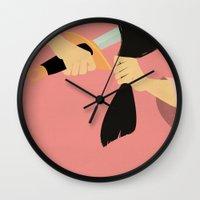 mulan Wall Clocks featuring Mulan by magicblood
