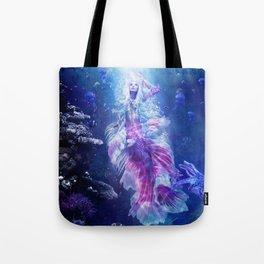 The Mermaid's Encounter Tote Bag