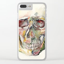 Human Skull Painting Clear iPhone Case