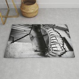 Castel Sant' Angelo | Balcony and window | Rome | Black & White Photography | Travel Photography | Photo Print | Art Print Rug