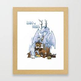Hoard of rabbits Framed Art Print