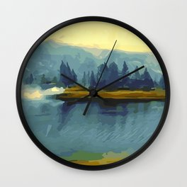 Misty River Island Wall Clock
