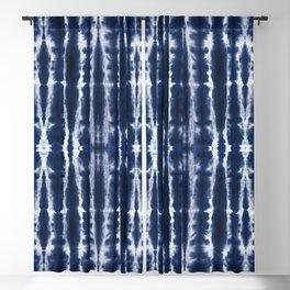 Palm Tiki Shibori Indigo Blackout Curtain