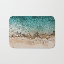 Caribbean Sea Blue Beach Drone Photo Bath Mat