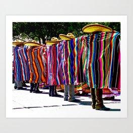 Dance of the Serape-clad Folklorico Dancers - Mesilla, N.M. Art Print