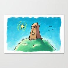 Sun on the Monolith Canvas Print