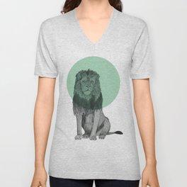 sitting lion Unisex V-Neck