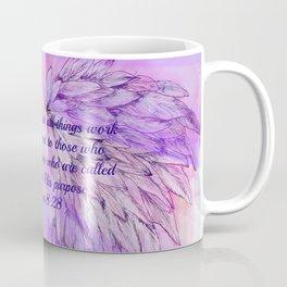 Pink Angel Wings Romans 8:28 Coffee Mug