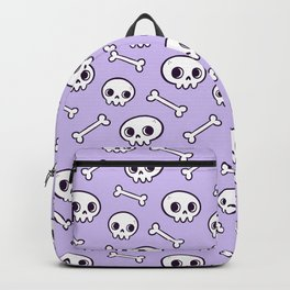 Cute Skulls // Purple Backpack