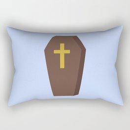 Halloween coffin with cross Rectangular Pillow