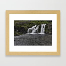 Lower Kirkjufellsfoss Waterfall Framed Art Print