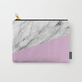 Marble with Pink Lavender Color Carry-All Pouch